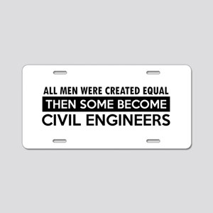 Civil Engineers Designs Aluminum License Plate