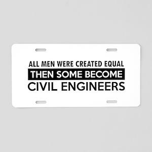 Civil Engineers Designs Aluminum License Plate