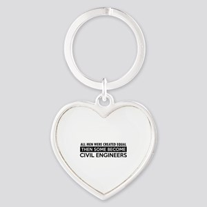 Civil Engineers Designs Heart Keychain