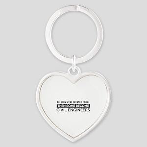 Civil Engineers Designs Heart Keychain