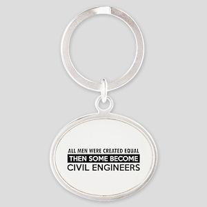 Civil Engineers Designs Oval Keychain