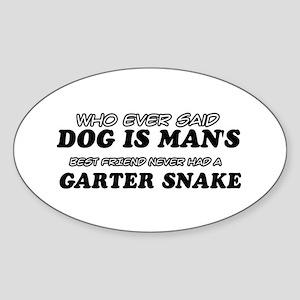 Garter Snake Designs Sticker (Oval)