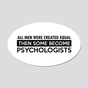 Psychologists Designs 20x12 Oval Wall Decal