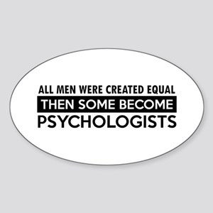 Psychologists Designs Sticker (Oval)