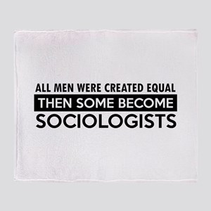Sociologists Designs Throw Blanket