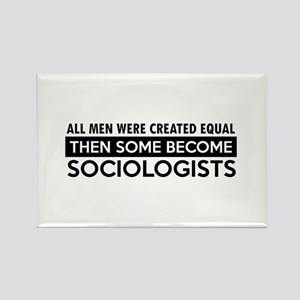Sociologists Designs Rectangle Magnet