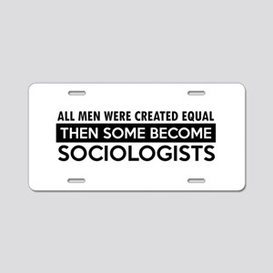 Sociologists Designs Aluminum License Plate