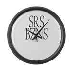 Serious Business Large Wall Clock