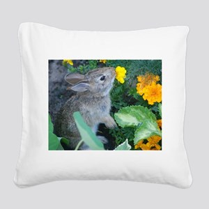 baby bunny Square Canvas Pillow