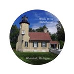 White River Lighthouse Button