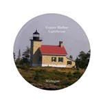 Copper Harbor Lighthouse Button