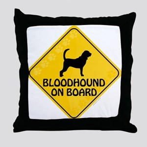 Bloodhound On Board Throw Pillow