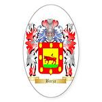 Borja Sticker (Oval)