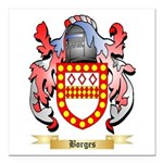 Borges Square Car Magnet 3