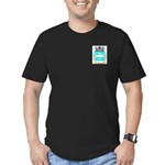 Borges 2 Men's Fitted T-Shirt (dark)