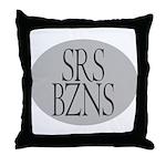 Serious Business Throw Pillow