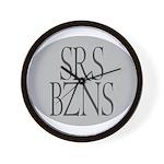 Serious Business Wall Clock