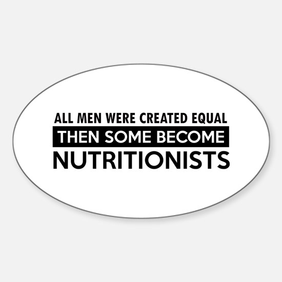 Nutritionists Designs Sticker (Oval)