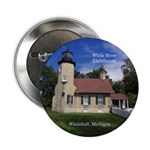 "White River Lighthouse 2.25"" Button"