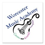 Worcester Music Academy Square Car Magnet 3""