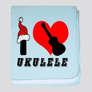 I Love Ukulele baby blanket