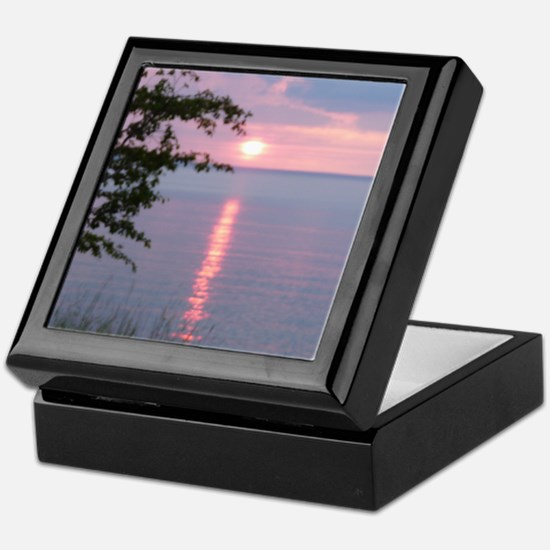 Sunset Lake Superior Keepsake Box