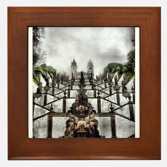 The Baroque staircase of Bom Jesus in Braga Framed