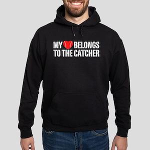 My Heart Belongs To The Catcher Hoodie (dark)