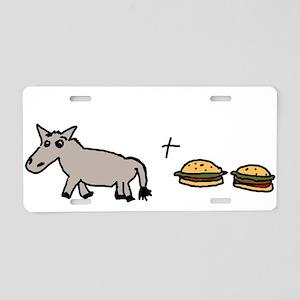 assburgers Aluminum License Plate