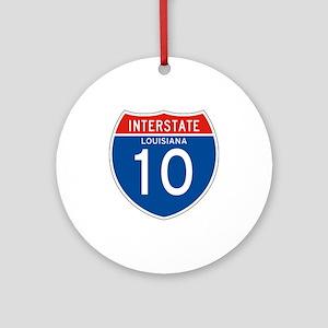 Interstate 10 - LA Ornament (Round)