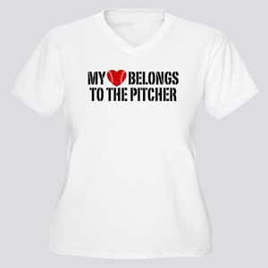 My Heart Belongs To The Pitcher Women's Plus Size