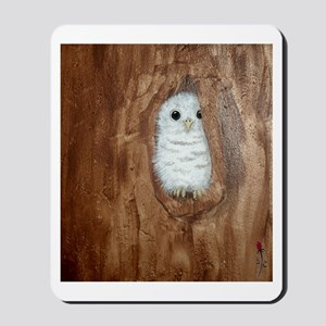 StephanieAM Baby Owl Mousepad