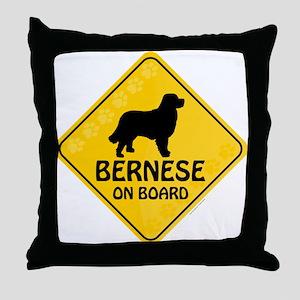 Bernese On Board Throw Pillow