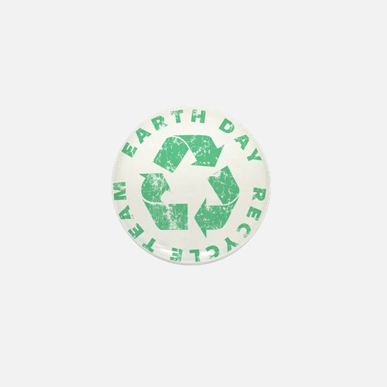 Earth Day Recycle Team Mini Button
