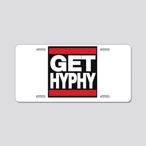 get hyphy lg red Aluminum License Plate