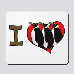 I heart penguins Mousepad