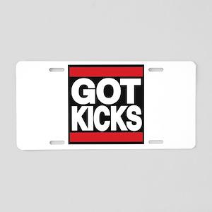 got kicks lg red Aluminum License Plate