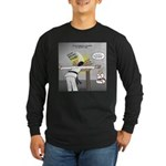 Karate Head Break Long Sleeve Dark T-Shirt