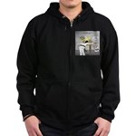 Karate Head Break Zip Hoodie (dark)