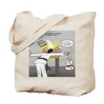 Karate Head Break Tote Bag