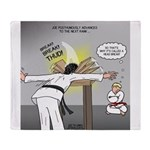 Karate Head Break Throw Blanket
