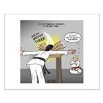 Karate Head Break Small Poster