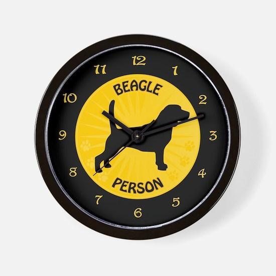 Beagle Person Wall Clock