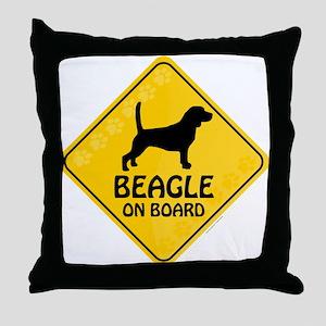 Beagle On Board Throw Pillow