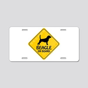 Beagle On Board Aluminum License Plate