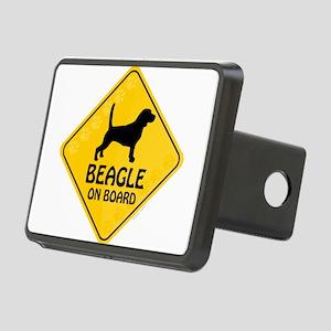Beagle On Board Rectangular Hitch Cover