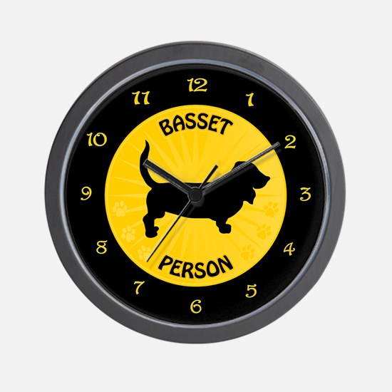 Basset Person Wall Clock