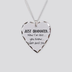 Just Graduated Blonde Humor Necklace
