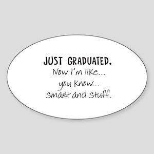 Just Graduated Blonde Humor Sticker