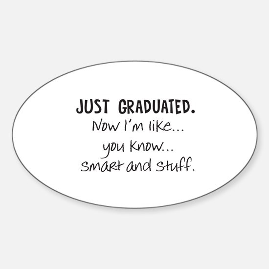 Just Graduated Blonde Humor Decal